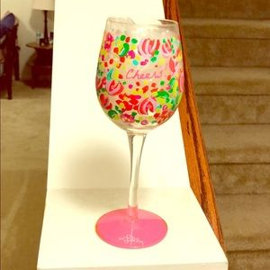 Lilly Pulitzer wine glass